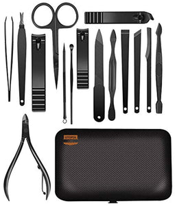 15-Piece Manicure Set for Nail Clippers Stainless Steel Manicure Kit