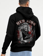 Load image into Gallery viewer, HER KING/HIS QUEEN COUPLE HOODIE, KANGAROO POCKET