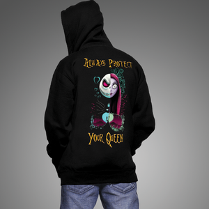 Always protect your queen, always trust your king Couple Hoodie Kangaroo Pocket