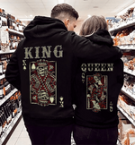 Load image into Gallery viewer, King& Queen Couple Hoodie Kangaroo Pocket