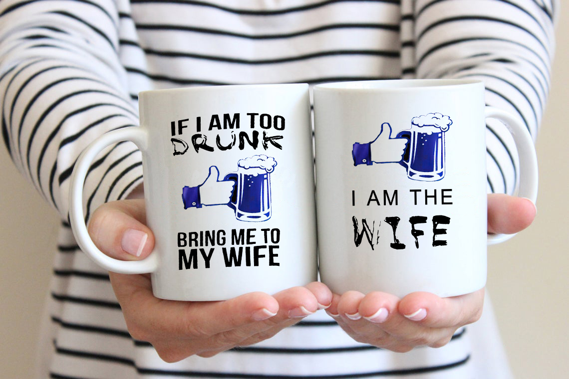 If I Am Drunk Bring Me To My Wife Beer Couple Mug
