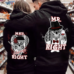 Load image into Gallery viewer, Mrs/Mr Always Right Couple Hoodie, Kangaroo Pocket