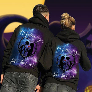 I Will Follow You Into The Dark Couple Hoodie,Kangaroo Pocket