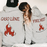 Load image into Gallery viewer, Fire Meet Gasoline Couple Hoodie,Kangaroo Pocket