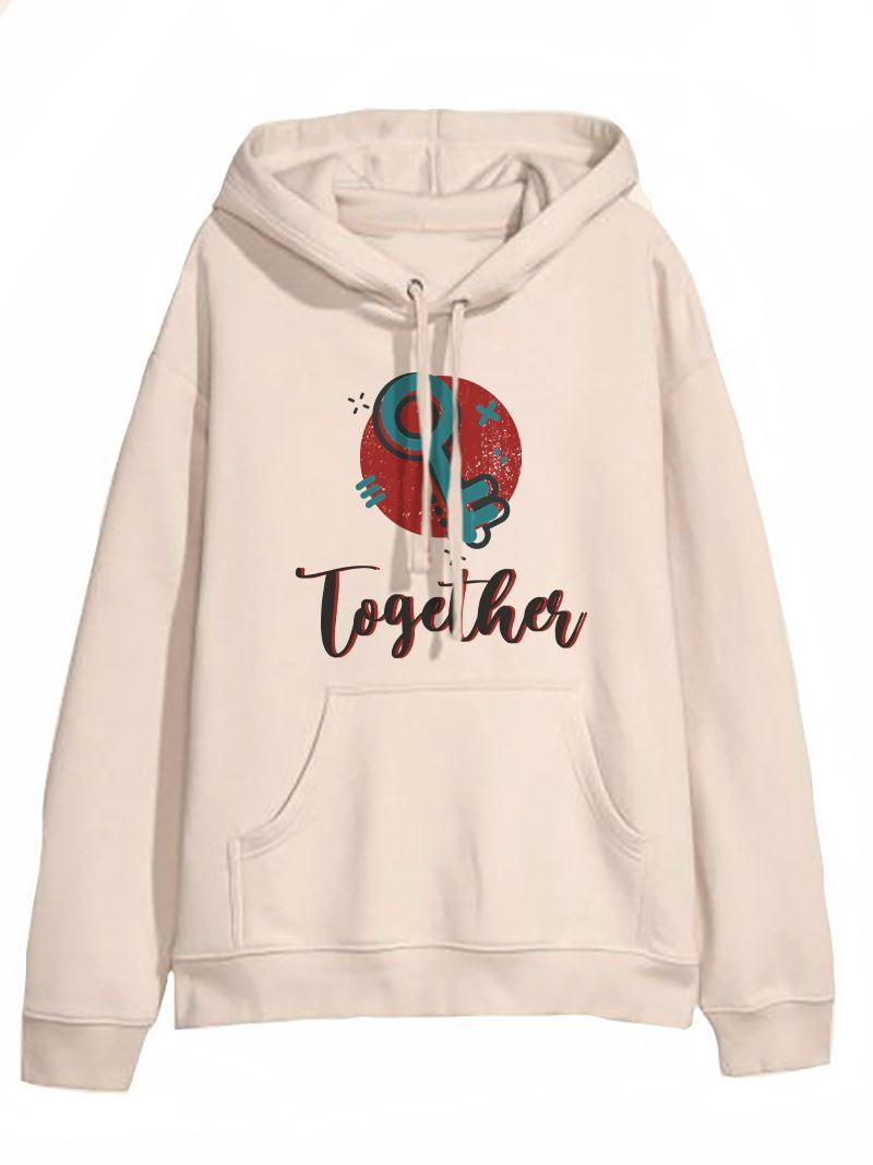 Better Together Key and lock Sweet Couple Hoodie, Kangaroo Pocket