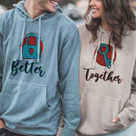 Load image into Gallery viewer, Better Together Key and lock Sweet Couple Hoodie, Kangaroo Pocket