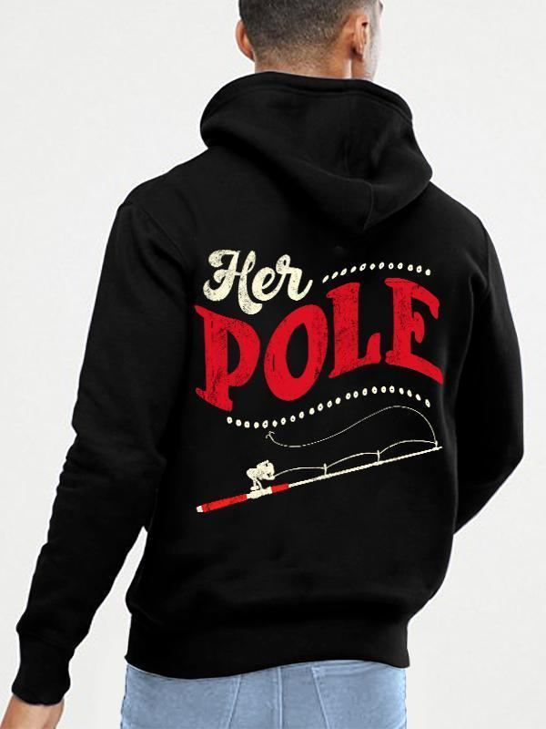 HIS BOBBERS HER POLE COUPLE HOODIE, KANGAROO POCKET, BRUSHED INSIDE
