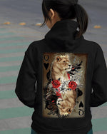 Load image into Gallery viewer, Lion Poker K&Q Couple Hoodie, Kangaroo Pocket