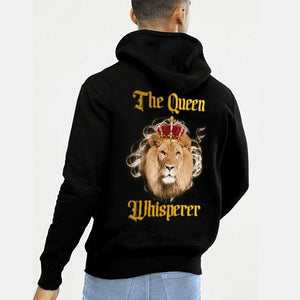 The Queen Whisperer The King Whisperer Lion Couple Hoodie,Kangaroo Pocket