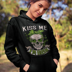 Load image into Gallery viewer, Kiss Me I'm Irish Skull Printing Couple Hoodie,Kangaroo Pocket