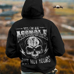 Load image into Gallery viewer, Yes I'm An Asshole But Not Yours/Yes I'm A Bitch But Not Yours Skull Printing Couple Hoodie,Kangaroo Pocket