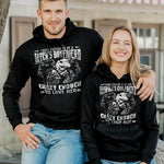 Load image into Gallery viewer, Touch Enough To Be A Bitch's Boyfriend/Touch Enough To Be An Asshole's Girlfriend Skull Printing Couple Hoodie,Kangaroo Pocket