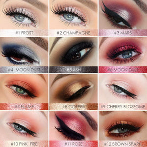 12 Pop Colours Eyeshadow Sticker Shimmer Pencil Eyes Makeup - CharmingColour multichrome makeup cosmetics