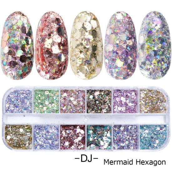 1 Set Mixed Color 3D Ultrathin Sequins Nail Glitter Flakes 1/2/3mm Sparkly DIY Tips Dazzling