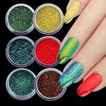 Load image into Gallery viewer, 1 Bottle Chameleon Nail Glitter Powder Laser Nail Glitter Gel Sparkly Shiny Sequins Dust Pigment