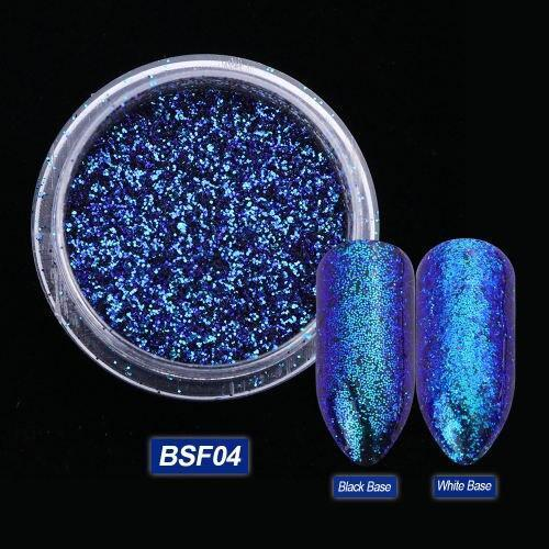 1 Bottle Chameleon Nail Glitter Powder Laser Nail Glitter Gel Sparkly Shiny Sequins Dust Pigment