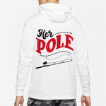 Load image into Gallery viewer, HIS BOBBERS HER POLE COUPLE HOODIE, KANGAROO POCKET, BRUSHED INSIDE