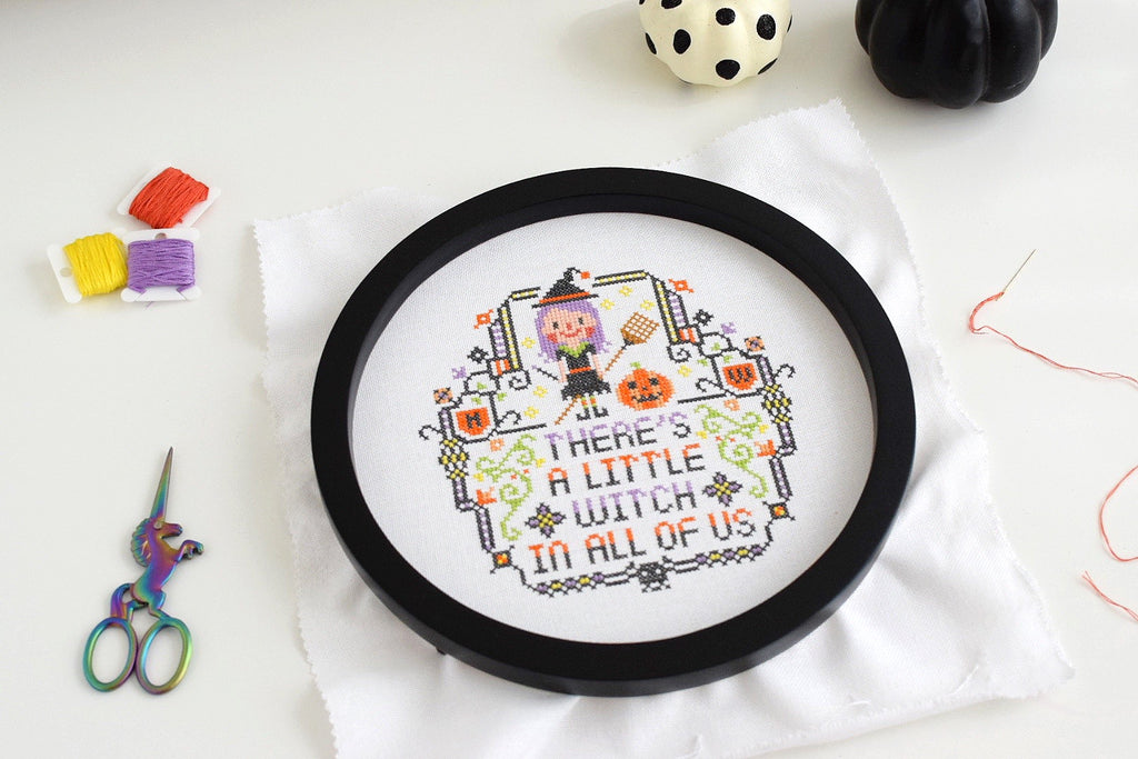 The best modern cross stitch patterns for Fall and Halloween