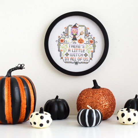There's a little witch in all of us cross stitch pattern by Red Bear Design