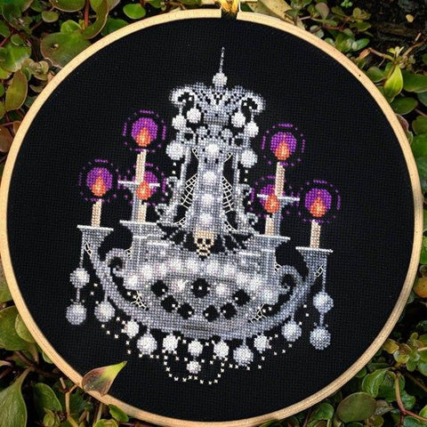 Haunted chandelier cross stitch pattern by PyroDogPins