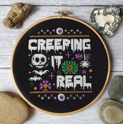 Creeping it real cross stitch pattern by PyroDogPins