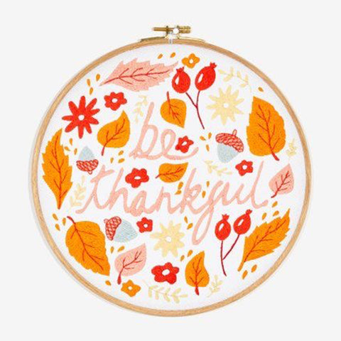Be Thankful free embroidery pattern by DMC