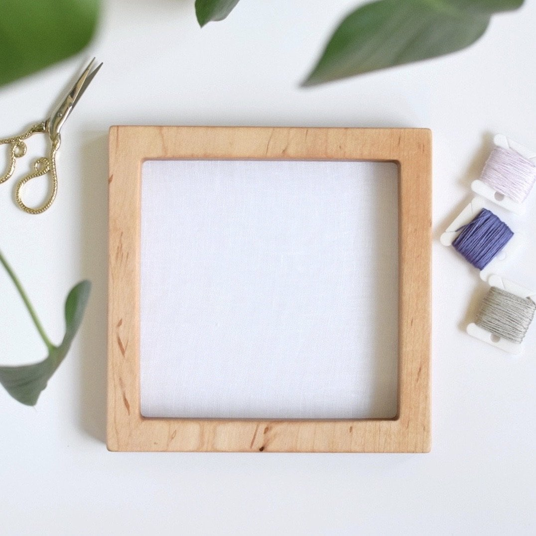 Maple square embroidery hoop (slim)