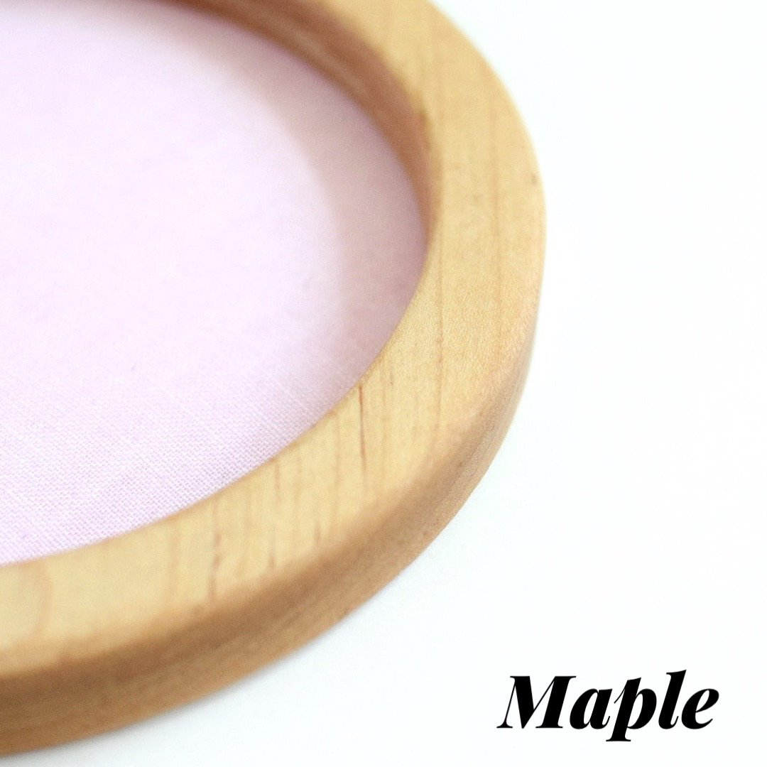 Maple circle embroidery hoop (wide)