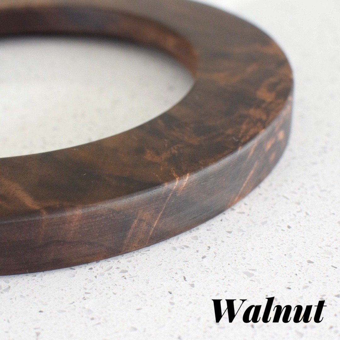 Walnut rectangle embroidery hoop (slim)