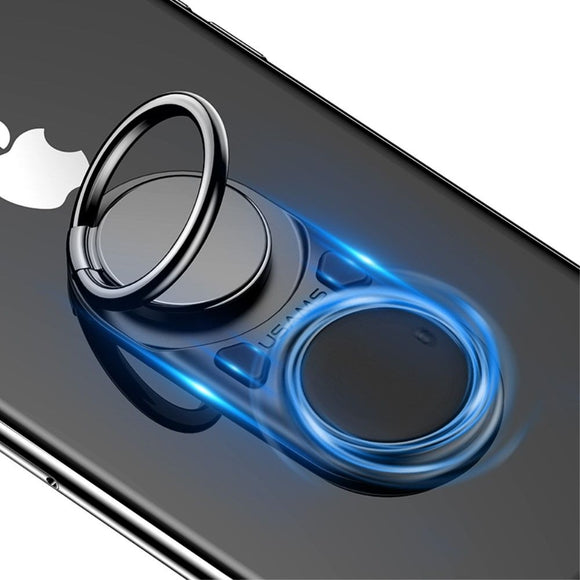 Holder Ring to Eliminate Anxiety Explodes the Plastic Bubbles with your Push Button and Rotates the Wheel for iPhone 11 Pro Max (2019) - Black
