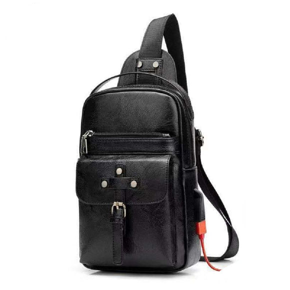 Backpack Waist Shoulder bag compatible with Ebook, Tablet and for Meizu 16T (2019) - Black