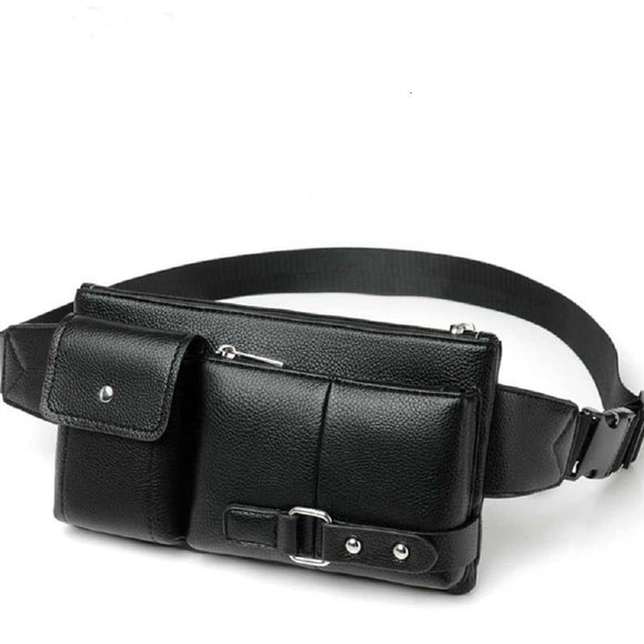 Bag Fanny Pack Leather Waist Shoulder bag for Ebook, Tablet and for Asus ROG Phone 3 Strix (2020)