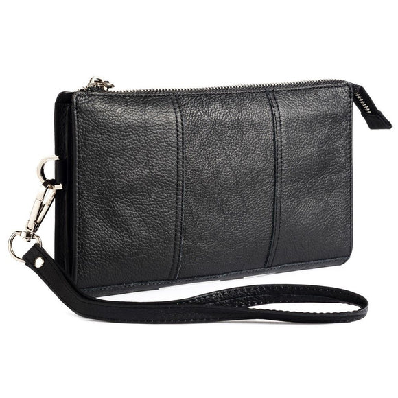 Exclusive Genuine Leather Case New Design Handbag compatible with Hisense H40 (2020) - Black