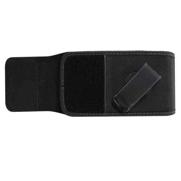 New Style Holster Case Cover Nylon with Rotating Belt Clip for Samsung Galaxy S20+ (2020) - Black