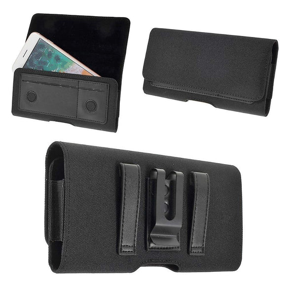 New Design Case Metal Belt Clip Horizontal Textile and Leather with Card Holder for Caterpillar CAT S42 (2020)