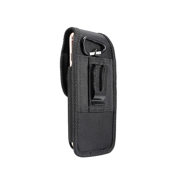 Belt Case Cover Nylon with Metal Clip New Style Business for ALLVIEW L801 (2020) - Black