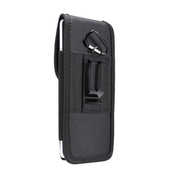 Belt Case Cover Nylon with Metal Clip New Style Business for Xiaomi Redmi Note 9S (2020) - Black