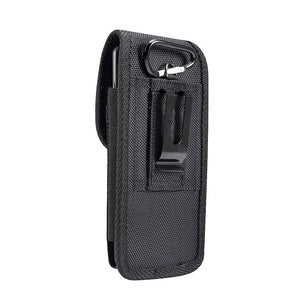 Belt Case Cover Nylon with Metal Clip New Style Business for Nokia C1 (2019) - Black
