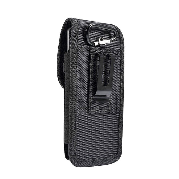 Belt Case Cover Nylon with Metal Clip New Style Business for BBK Vivo Y19 (2019) - Black