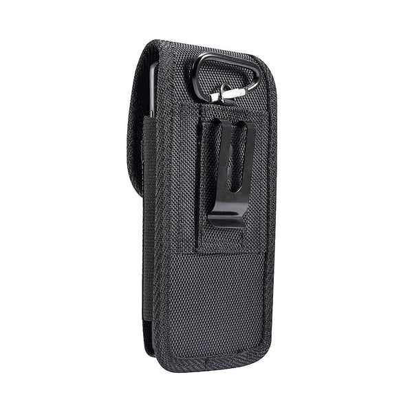 Belt Case Cover Nylon with Metal Clip New Style Business for iPhone 11 Pro (2019) - Black