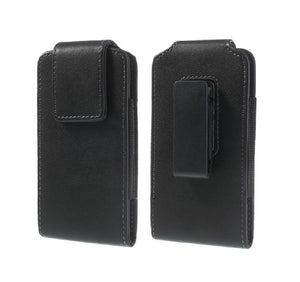 Magnetic holster case belt clip rotary 360 for HTC Wildfire E1 Plus (2019) - Black