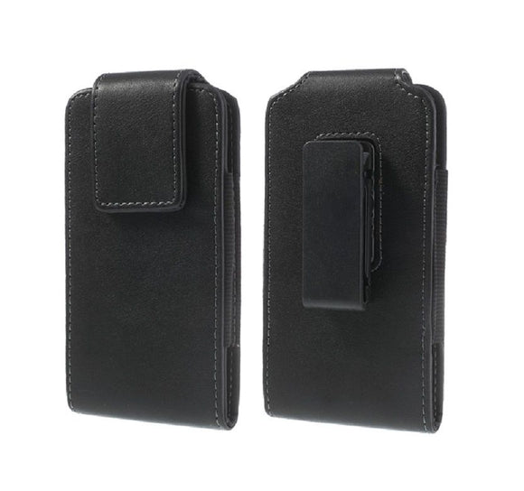 Magnetic holster case belt clip rotary 360 for Pluzz PL5016 (2019) - Black