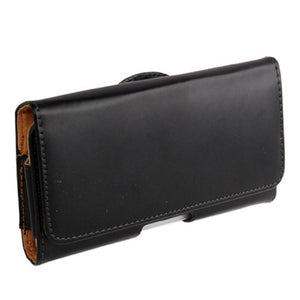 Case Holster belt clip smooth synthetic leather horizontal for Xiaomi Redmi Note 8T (2019) - Black
