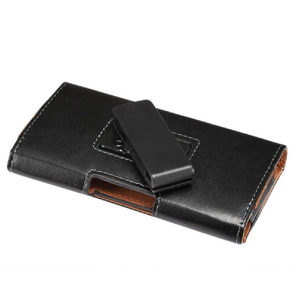 Executive Holster Magnetic Leather Case Belt Clip Rotary 360º for Huawei Honor Play 4T (2020) - Black