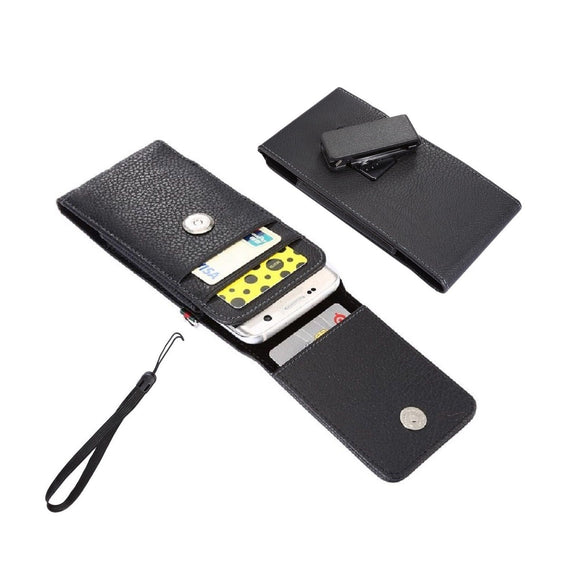 Magnetic leather Holster Card Holder Case belt Clip Rotary 360 for LG V60 ThinQ (2020) - Black