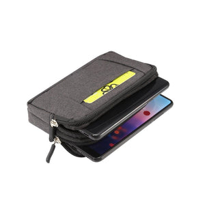 Multipurpose Horizontal Belt Case 2 Compartments Zipper for Nokia 225 4G (2020)