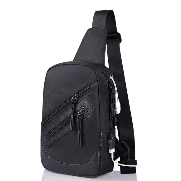 Backpack Waist Shoulder bag Nylon compatible with Ebook, Tablet and for Samsung Galaxy M21 (2020) - Black