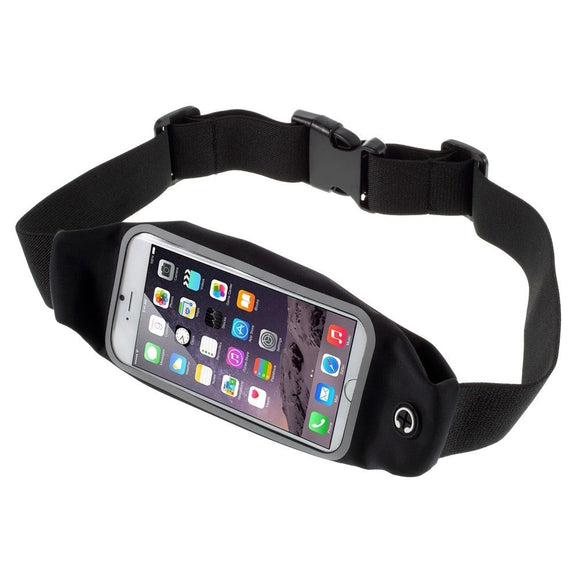 Case Belt Bag Reflective with Touch Screen for Running Walking Hiking Jogging Waist Pack Waterproof Fanny Pack Pouch for iPhone 11 (2019) - Black
