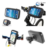 Professional Support for Bicycle Handlebar and Rotatable Waterproof Motorcycle 360º for HTC Wildfire E1 (2019) - Black