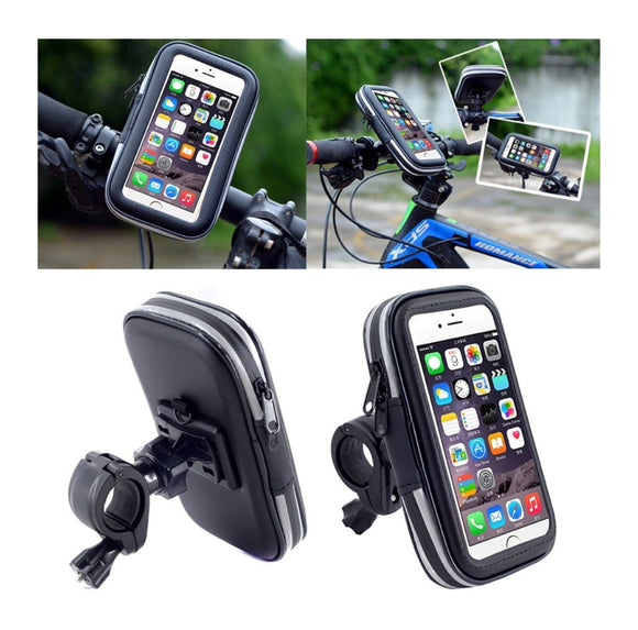 Professional Reflective Support for Bicycle Handlebar and Rotatable Waterproof Motorcycle 360 for Motorola Moto G8 (2020) - Black